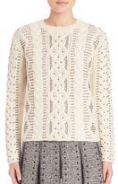 Valentino Studded Wool & Alpaca Sweater