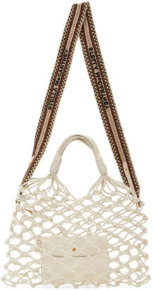 Stella McCartney White Alter Nappa Knotted Tote