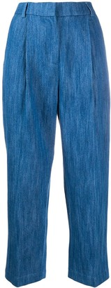 YMC High-Waisted Cropped Jeans