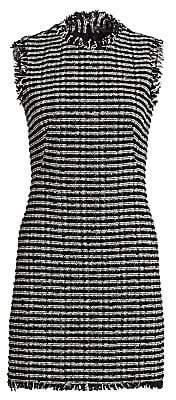 Alexander McQueen Women's Tweed Pencil Mini Dress