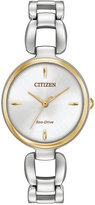 Citizen Women's Eco-Drive Stainless Steel Bracelet Watch 28x30mm EM0424-53A