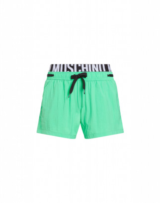 Moschino Elastic Band Fluo Beach Boxer Man Green Size L It - (m Us)
