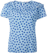 P.A.R.O.S.H. frilled star print blouse