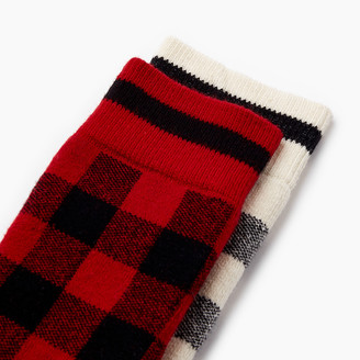 Roots Kids Park Plaid Sock 2 Pack