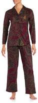Lauren Ralph Lauren Petite Paisley Pajama Set