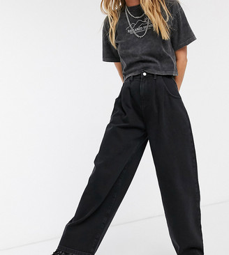 Reclaimed Vintage inspired The '97 high waist wide leg mom jean in washed black
