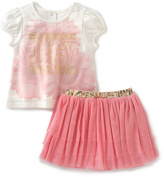 Juicy Couture Pink 'Glamorous' Tee & Skirt - Infant & Toddler