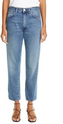 Totême Twisted Seam High Waist Straight Leg Crop Jeans