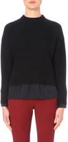 Joseph Silk-trim wool and cashmere-blend jumper