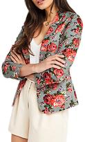 Oasis Rose Print Suit Jacket, Multi