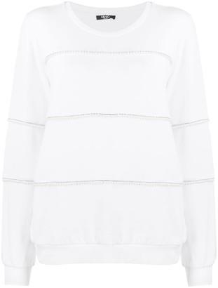 Liu Jo Faux Pearl-Embellished Sweatshirt