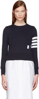 Thom Browne Navy Classic Pullover