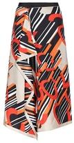Carven Printed silk skirt