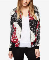 Sanctuary Printed Patchwork Bomber Jacket, Created for Macy's