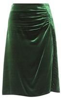 Prada Ruched Velvet Skirt