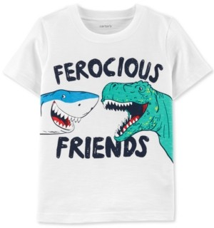 Carter's Toddler Boys Ferocious Friends-Print Cotton T-Shirt