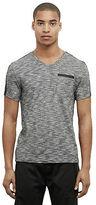 Kenneth Cole V-Neck T-Shirt With Nylon Trim
