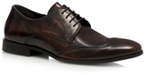 Red Herring Dark Brown Wingtip Patent Brown Derby Shoes