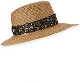 Eugenia Kim Gabriella 3D Floral Fedora Hat, Camel