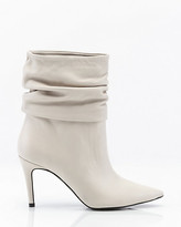Le Château Italian-Made Leather Slouch Boot
