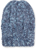 Etro Ribbed Mélange Wool Beanie - Blue