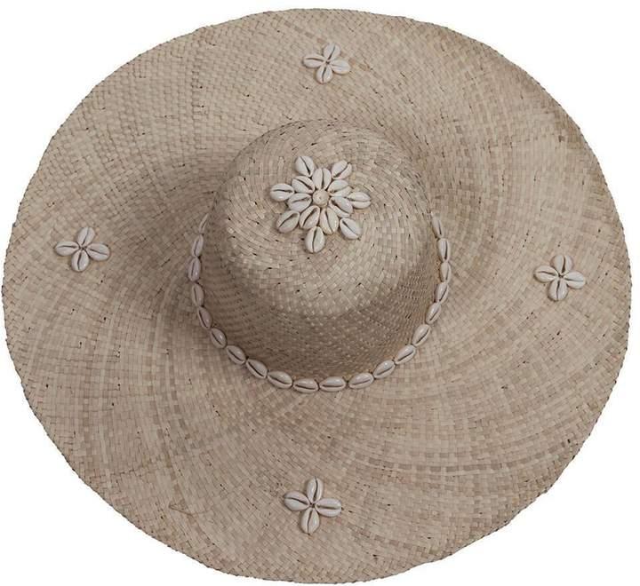 0f6d64069 Cream Shell Straw Sun Hat