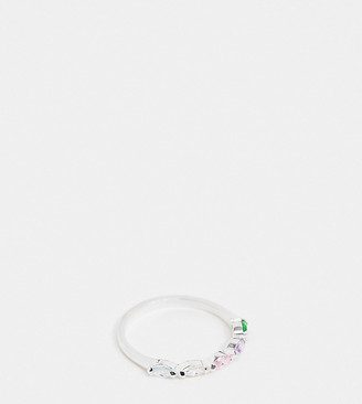 Kingsley Ryan sterling silver ring with rainbow crystals