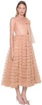 RED Valentino CRYSTAL EMBELLISHED TULLE MIDI DRESS