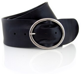 Loop Wide leather belt