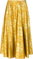 Rochas floral jacquard skirt