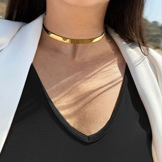 Sonia Hou CEO Choker Statement Necklace in 18K Gold Vermeil - Sterling Silver base