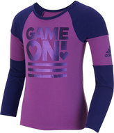 adidas Little Girls' Athletic Fit Long-Sleeve Game On T-Shirt