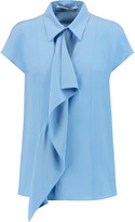 Agnona Draped crepe-silk top