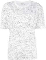 Saint Laurent slogan embroidered T-shirt