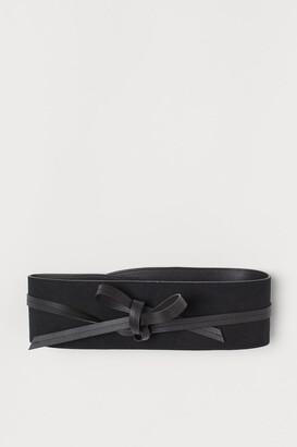 H&M Waist Belt with Ties - Black