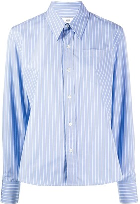 AMI Paris Classic-wide Fit Shirt With Chest Pocket