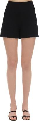 L'Autre Chose High Waist Crepon Shorts