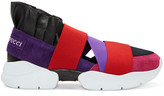 Emilio Pucci Purple and Black Colorblock Slip-on Sneakers