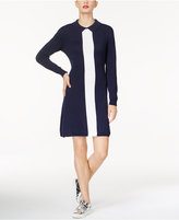 Lacoste Cotton Collared Colorblocked Dress