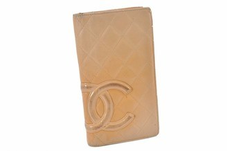 Chanel Cambon Orange Leather Wallets