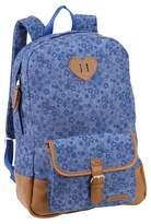 """Laura Ashley 17"""" Kids' Backpack - Violet Blue Denim"""