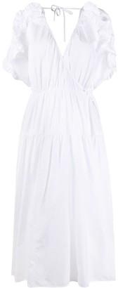 Cecilie Bahnsen Short-Sleeve Flared Midi Dress