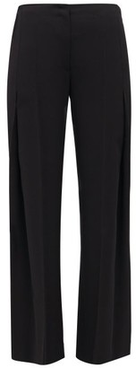 The Row Alexa Wool-twill Pleated Trousers - Womens - Black