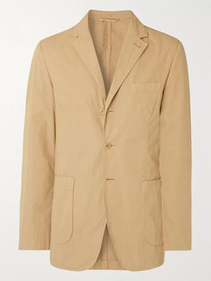 Aspesi Burgundy Slim-Fit Unstructured Garment-Dyed Cotton Blazer