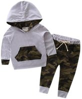 Kwok Toddler Baby Boy Clothes Hooded Set Tracksuit Top +Pants Camouflage Outfits