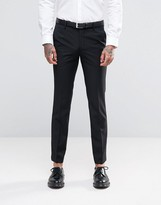 Farah Skinny Suit Trousers In Black
