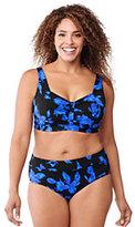 Classic Women's Plus Size Beach Living Sweetheart Bikini Top-Black Fiesta Floral