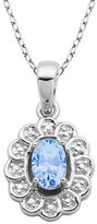 Lord & Taylor December Birthstone Sterling Silver Necklace