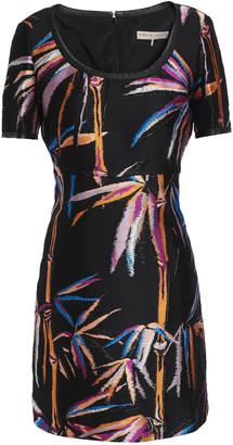 Emilio Pucci Leather-trimmed Jacquard-twill Mini Dress