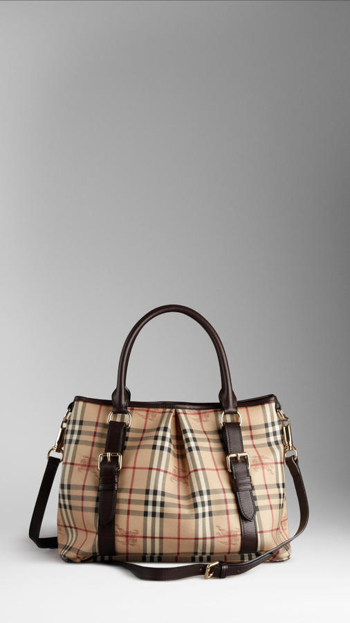 Burberry Large Haymarket Check Tote